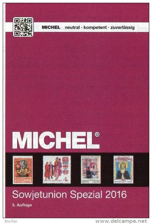 MlCHEL Sowjetunion Spezial Briefmarken Katalog 2016 Neu 150€ Porto/Lokal/Gebühren-Marken Special Catalogues USSR CCCP SU - Alte Papiere