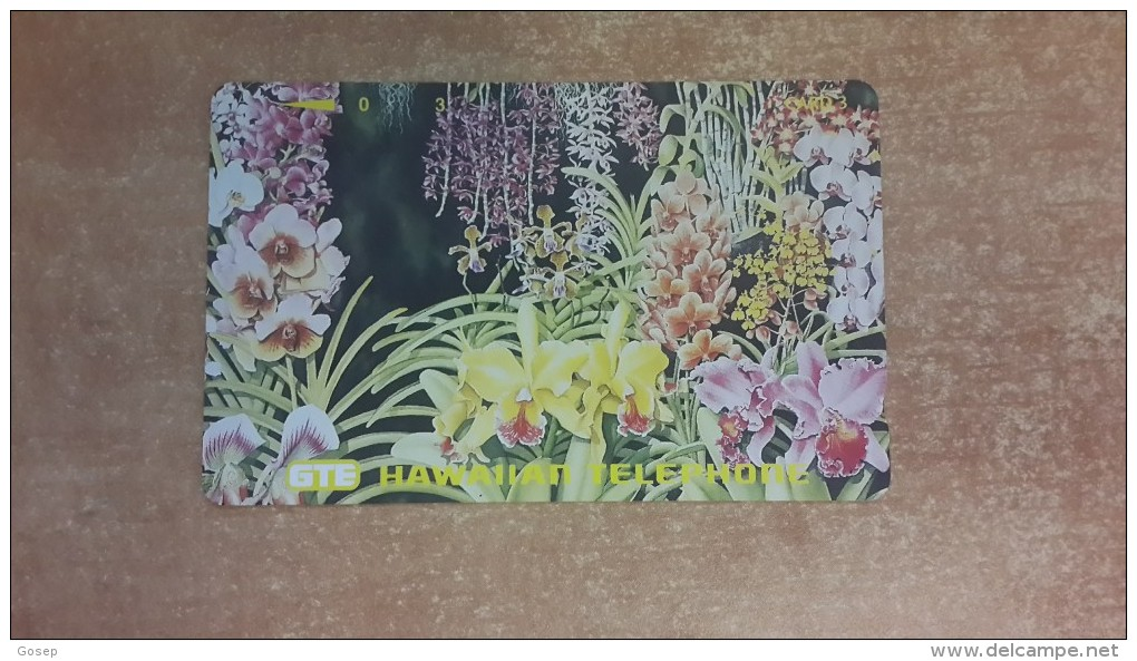 Hawaii-greden Flowers-used Card-tirage-5.000-+1card Prepiad Free - Hawaii