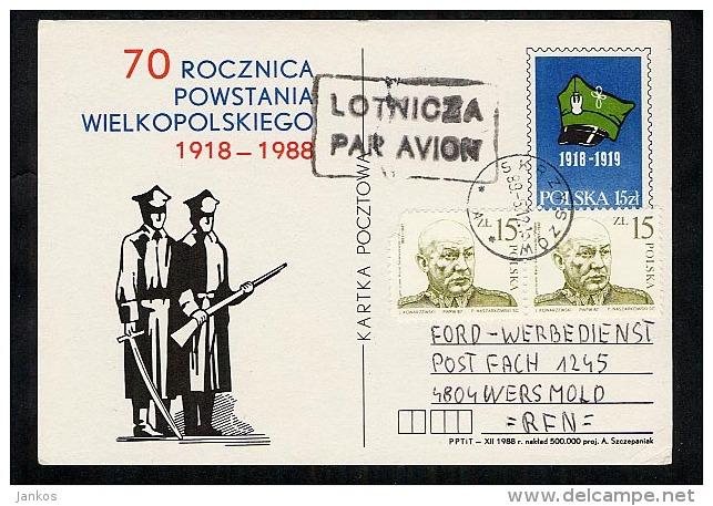 Poland Postal Stationery Postcard Used 1989 Skrzyszow (Z454) - Stamped Stationery