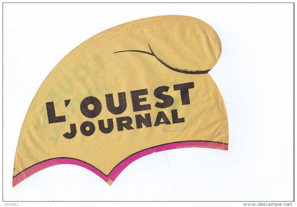 CAGOULE EN PAPIER L OUEST JOURNAL - Casquettes & Bobs