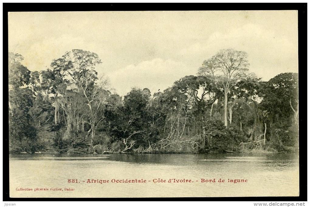 Cpa Côte D´ Ivoire Bord De Lagune - Afrique Occidentale No 881  NOV15 16 - Côte-d'Ivoire