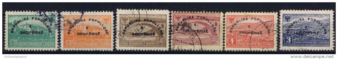 Albania:  Mi  Nr  402 - 407 Used 1946 - Albania