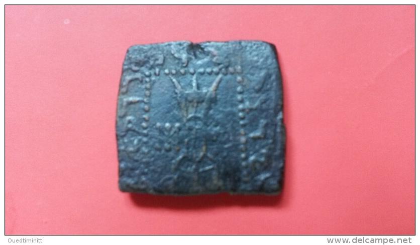 Indo-grec/Indo-greek. Bronze Carré Bilingue. Straton I. Bactria.Bactriane RARE - Greche