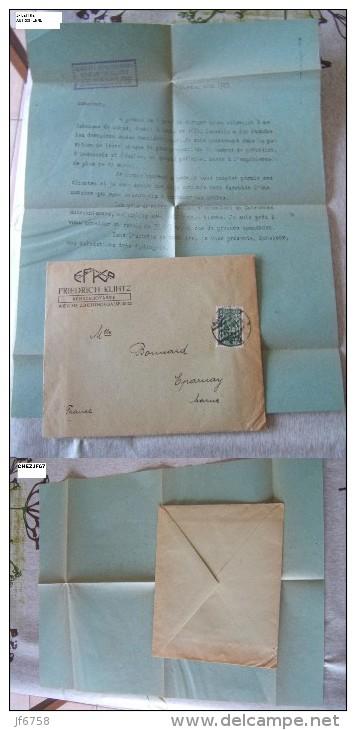LETTRE COMMERCIALE FRIEDRICH KLINTZ FABRIQUE DE COMPAS AUTRICHE 1923 - Autriche