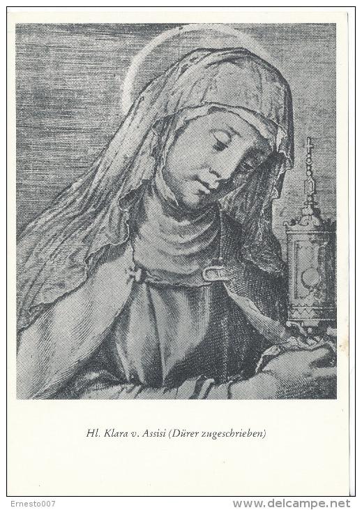 PK-CP Deutschland,  Heilige Klara Von Assisi, Ungebraucht, Siehe Bilder!*) - Femmes Célèbres