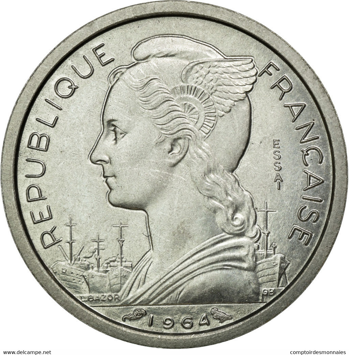 Monnaie, Comoros, Franc, 1964, Paris, FDC, Aluminium, Lecompte:32 - Comoros