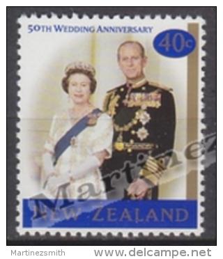 New Zealand - Nouvelle Zelande 1997 Yvert 1579 Golden Wedding Of The Queen Elizabeth II - MNH - Nouvelle-Zélande