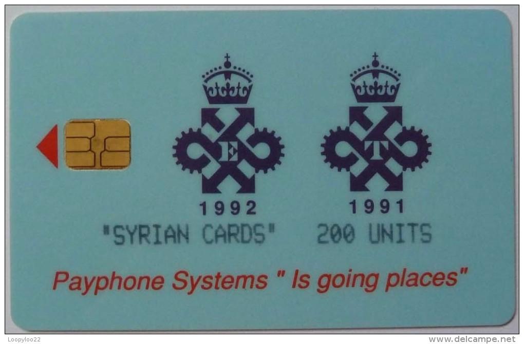 SYRIA - Chorley Test - GPT Queens Award - Test - 200 Units - Used - Syria