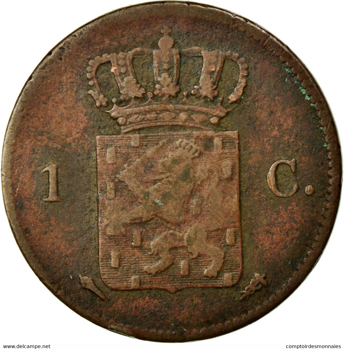 Monnaie, Pays-Bas, William I, Cent, 1827, TB, Cuivre, KM:47 - 1815-1840 : Willem I