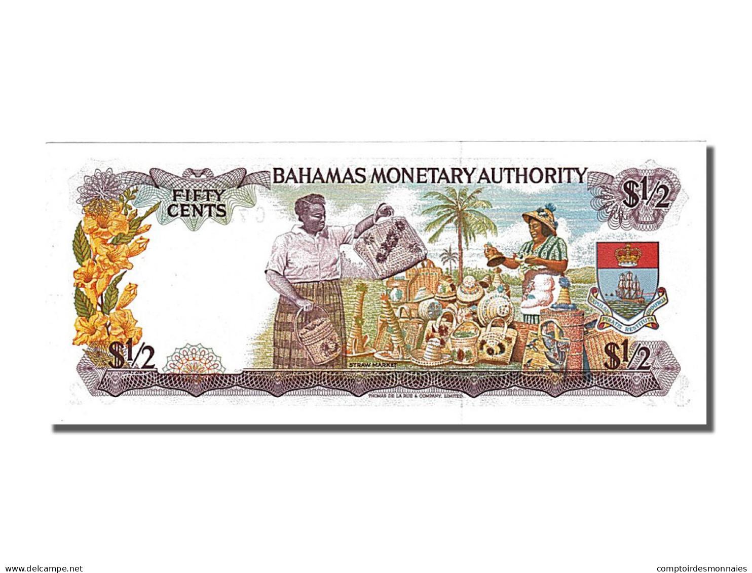Bahamas, 1/2 Dollar Type Elisabeth II - Bahamas
