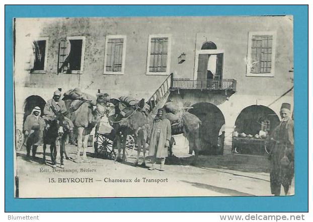 CPA 15 Chameaux De Transport âne BEYROUTH LIBAN - Mundo