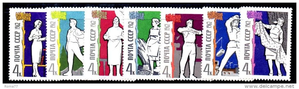 U140B -  RUSSIA URSS 1962 , Serie 2570/2576  ***  MNH - 1923-1991 URSS