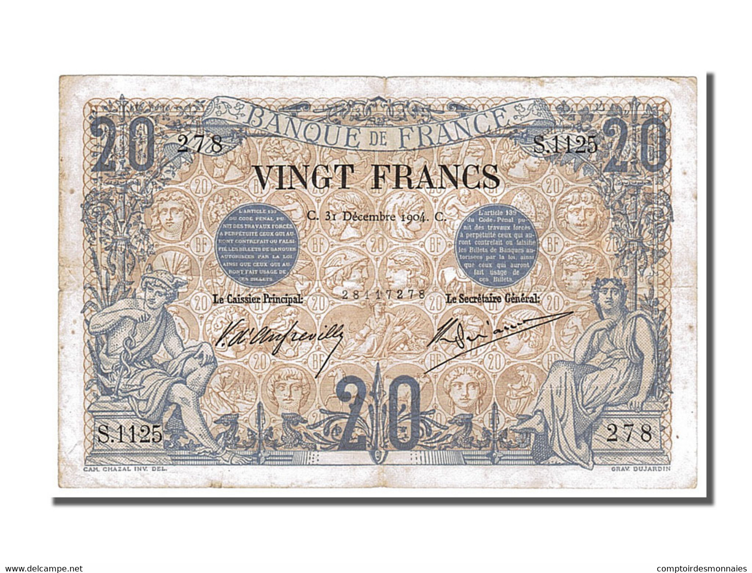 20 Francs Noir Type 1873 - 1871-1952 Antichi Franchi Circolanti Nel XX Secolo