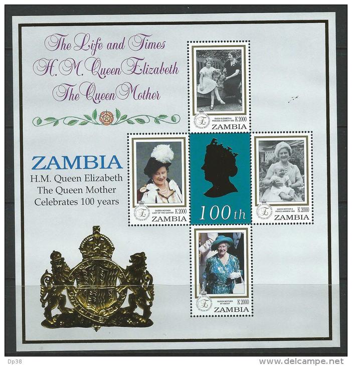 Zambia 1999 SC 782 MNH Queen Mother - Zambia (1965-...)