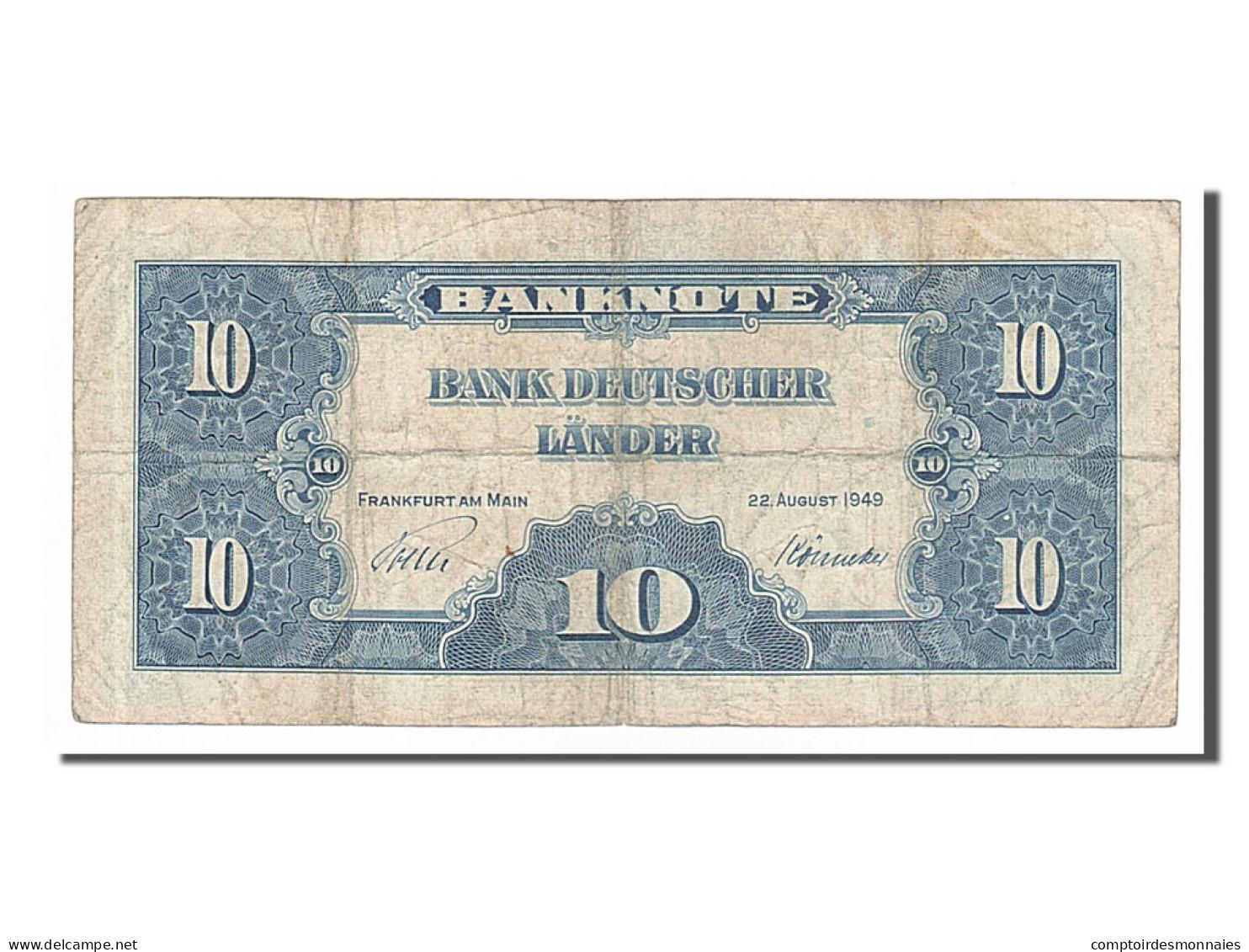 Allemagne, 10 Deutsche Mark Type 1949 - [ 7] 1949-… : RFA - Rep. Fed. Tedesca