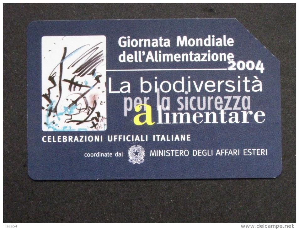505 GOLDEN EURO - GIORNATA MONDIALI ALIMENTAZIONE 2004 BIODIVERSITA' - USATA PERFETTA - Public Advertising