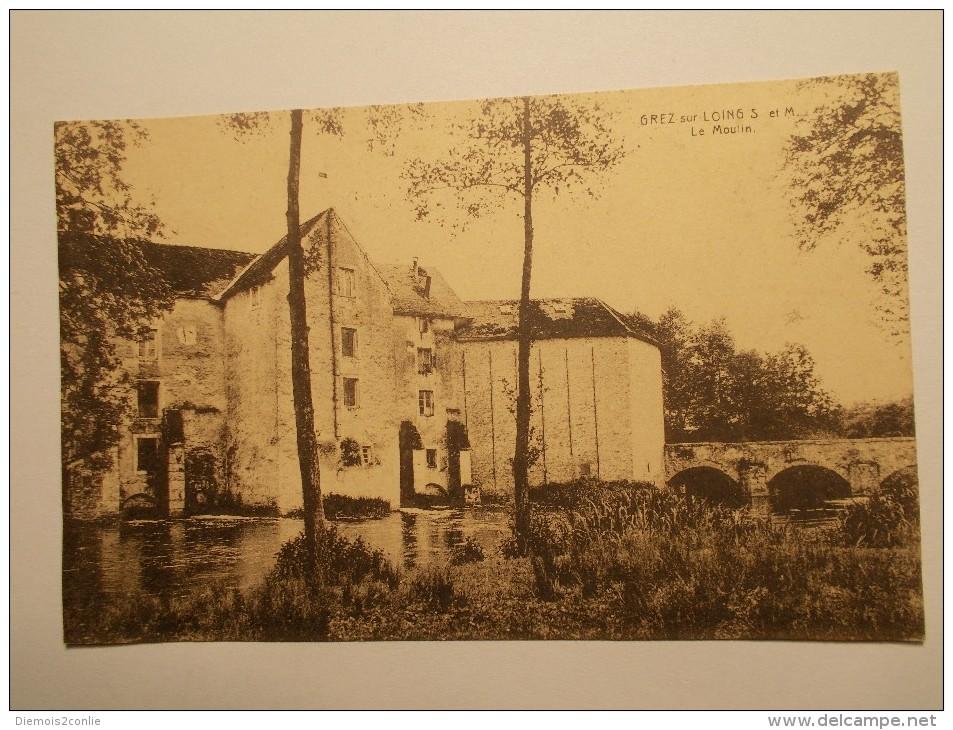 Carte Postale - GREZ SUR LOING  (77) - Le Moulin (961/1000) - France