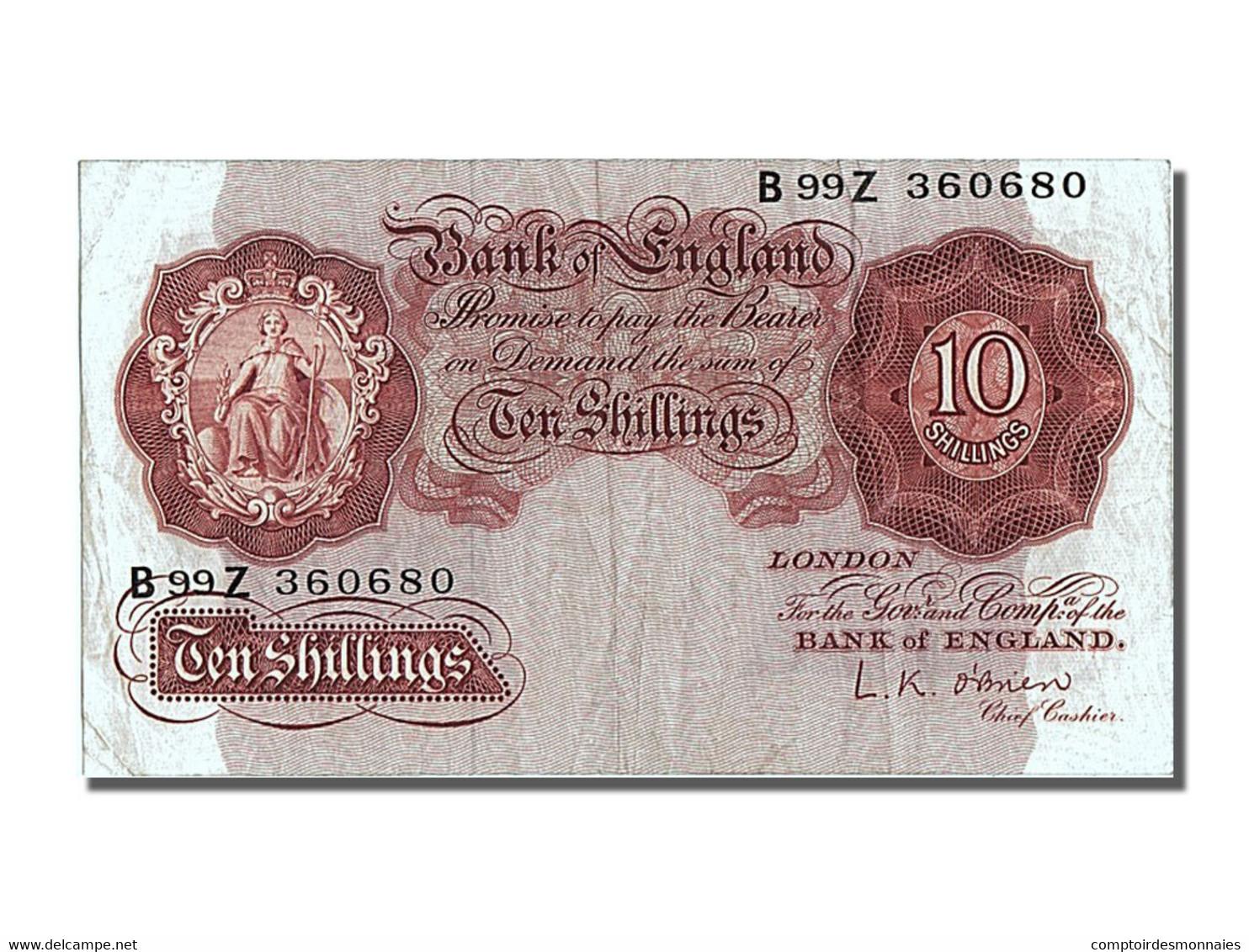 Grande-Bretagne, 10 Schillings Type 1948 - 1952-… : Elizabeth II