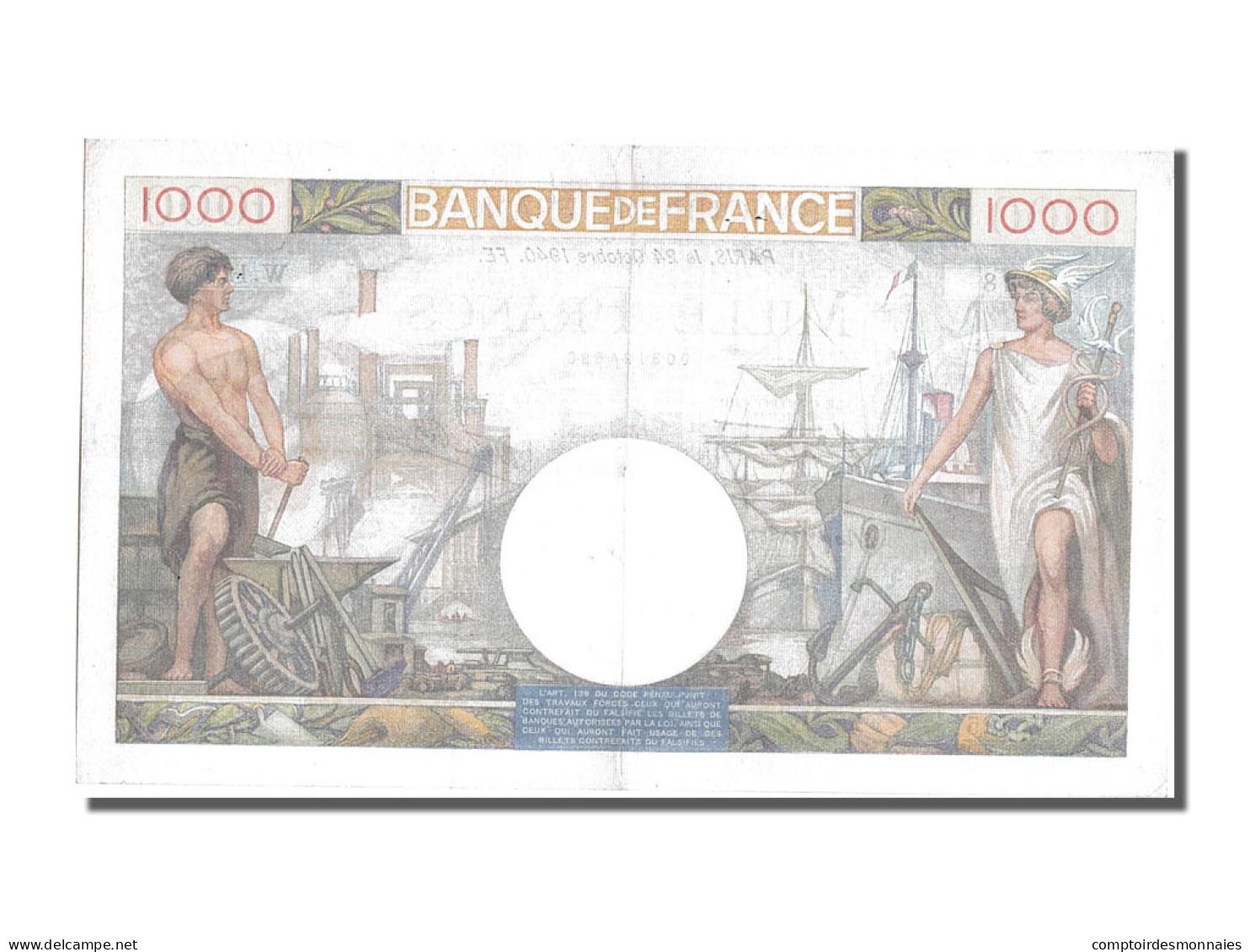 1000 Francs Type Commerce Et Industrie - 1871-1952 Frühe Francs Des 20. Jh.