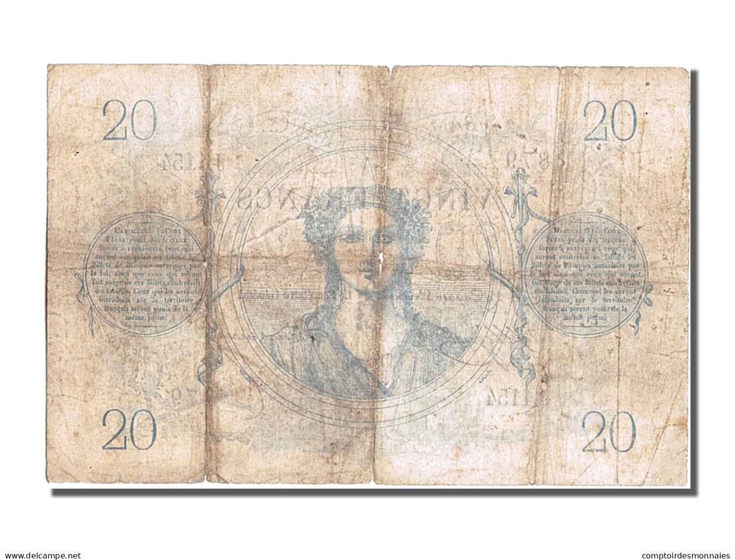 France, 20 Francs CHAZAL,1872, 1872-10-30, KM:55,... - ...-1889 Tijdens De XIXde In Omloop