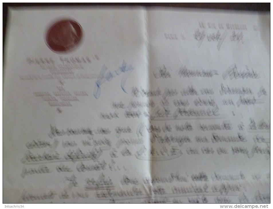 Lettre à En Tête Et LAS Autographe De Pierre Thomas Auteur Dramatique Chansonnier . Paris 1924 - Autogramme