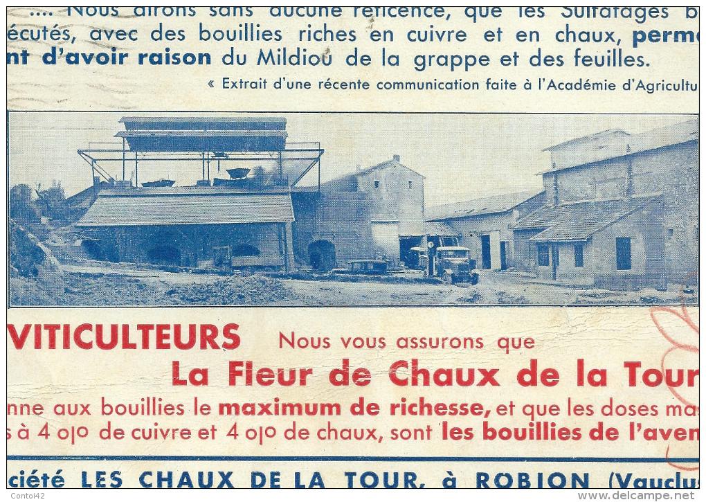 84 ROBION VAUCLUSE CHAUX BUVARD MINES - Agriculture