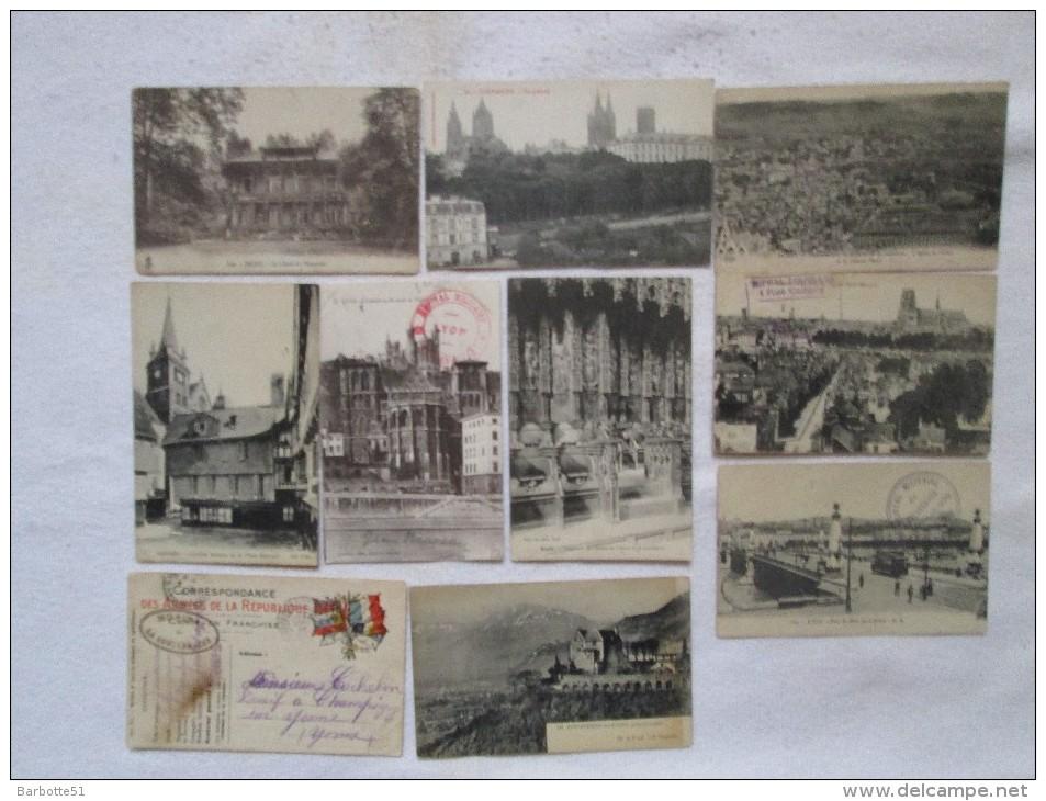 10 CPA Avec Tampons Hôpitaux Militaires Tous Différents Voir Scans Et Description - Cartes Postales