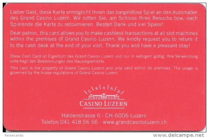 Schweiz: Grand Casino Luzern - Casinokarten