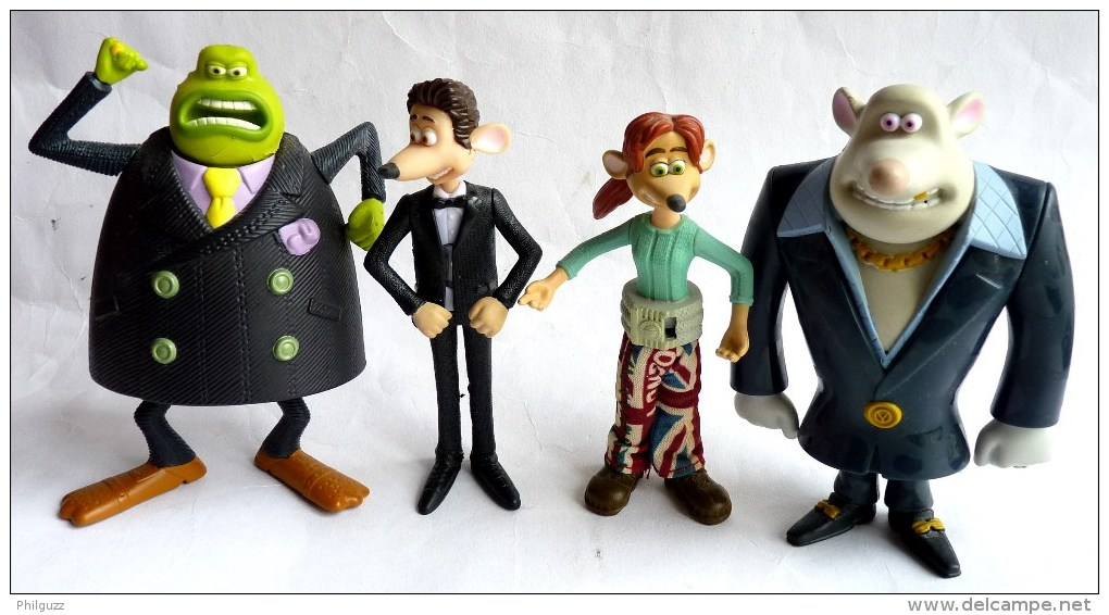 4 Figurines Figurine Mc Donald's FLUSHED AWAY 2006 - Publicitaire Prime - Figurines