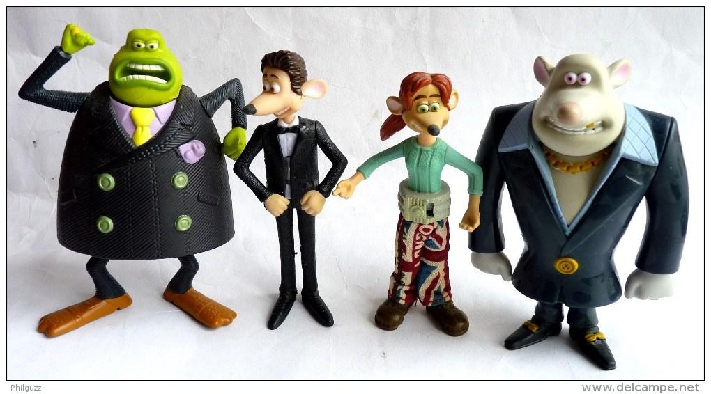 4 Figurines Figurine Mc Donald's FLUSHED AWAY 2006 - Publicitaire Prime - Autres