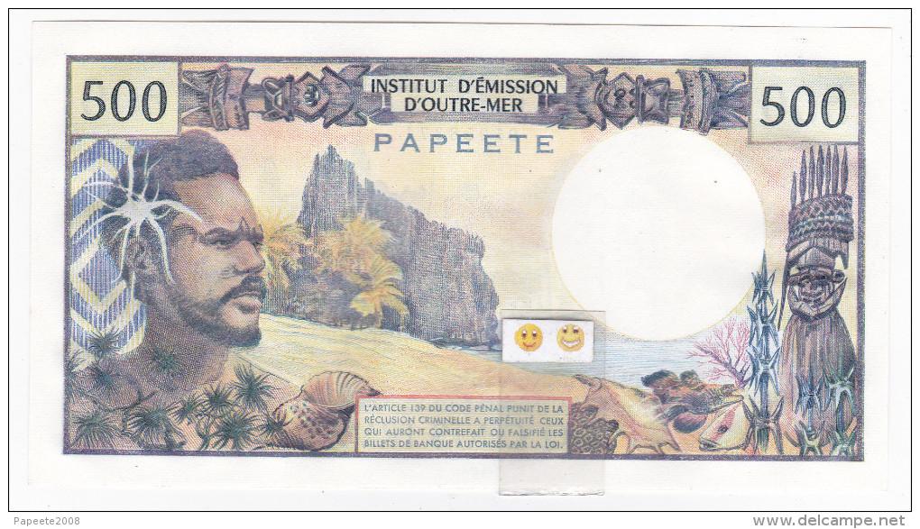 """Polynésie Française - 500 FCFP - Mention """"PAPEETE"""" Au Verso - A.3 / Roland-Billecart / Waitzenegger - Papeete (Polynésie Française 1914-1985)"""