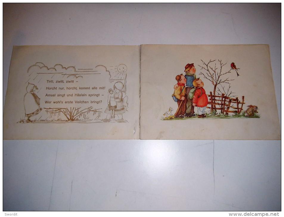 Vecchio Libro Tedesco Altes Buch Old Book - Libri Per Bambini