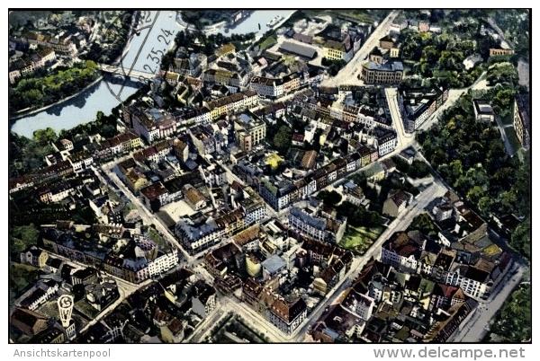 Cp Saarbrücken Im Saarland, Luftaufnahme, Saar, Stadtviertel, Hauptstraßen - Other