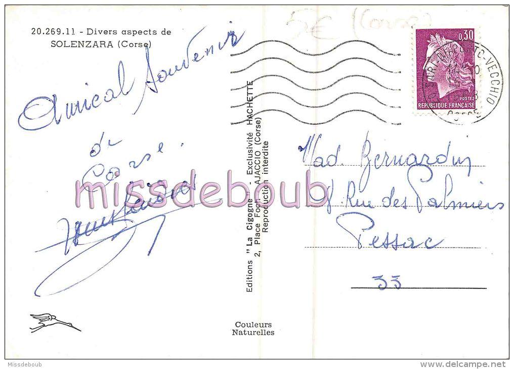 20 - 2A - CORSE - SOLENZARA - CPSM - MUltivues  - 1968 - 2 Scans - Autres Communes