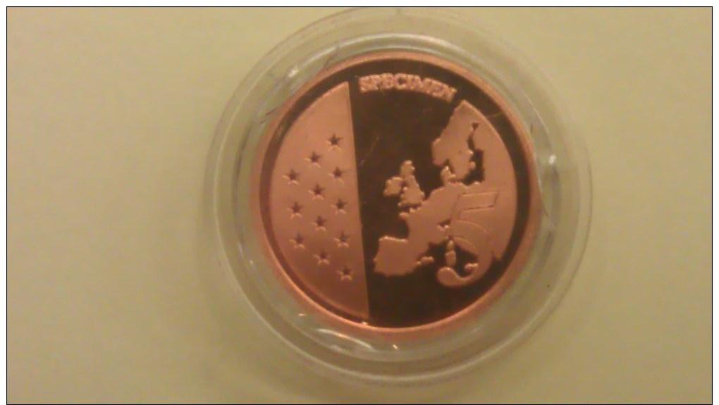 2 Scans -- EURO-Probe - 5 Euro Cent - Monaco -  Lot-Sammlung - Konvolut Lt. Fotos - Abarten Und Kuriositäten