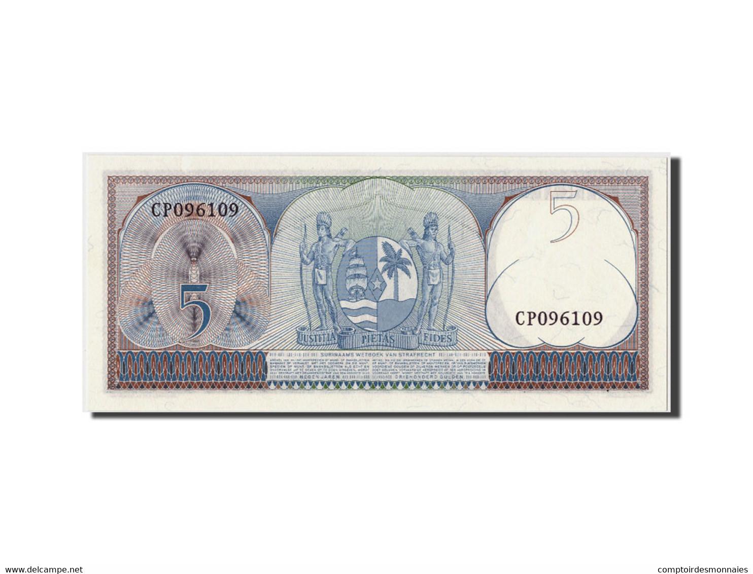 Surinam, 5 Gulden, 1963, KM:120b, 1963-09-01, SPL - Surinam