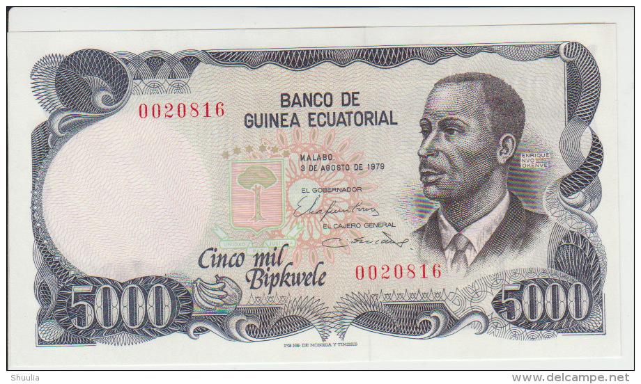 Equatorial Guinea 5000 Bipkele 1979 Pick 17 UNC - Guinea Ecuatorial