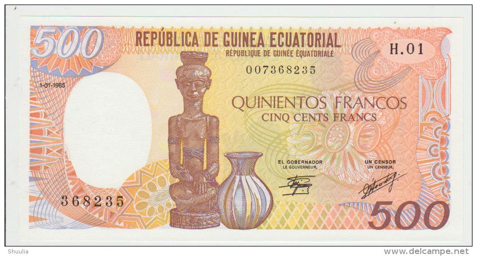 Equatorial Guinea 500 Bipkele 1985 Pick 20 UNC - Guinea Ecuatorial