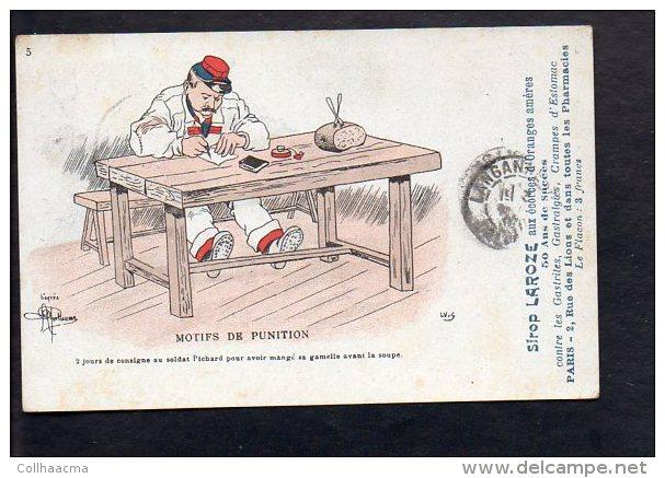 Illustrateur Dessin - (G ) Guillaume / Militaire,soldat / Motifs De Punition / Publicité Sirop Laroze - Autres Illustrateurs
