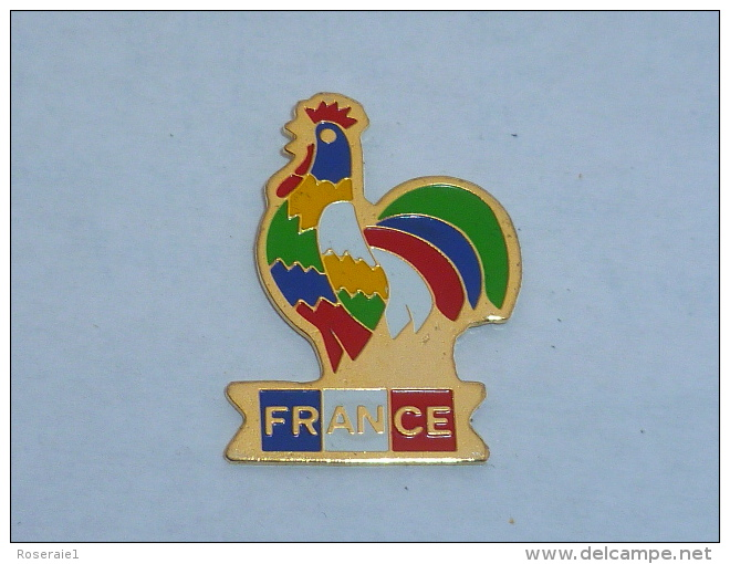 Pin's COQ FRANCE MULTICOLORE - Villes
