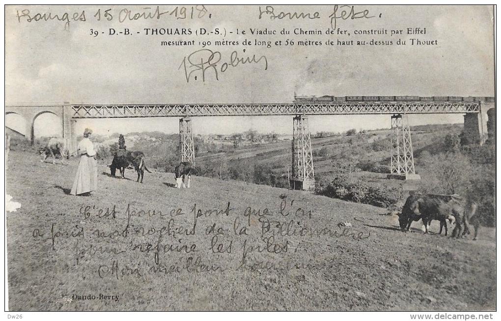 Thouars - Le Viaduc Du Chemin De Fer, Construit Par Eiffel - Train - Edition Dando-Berry - Ouvrages D'Art