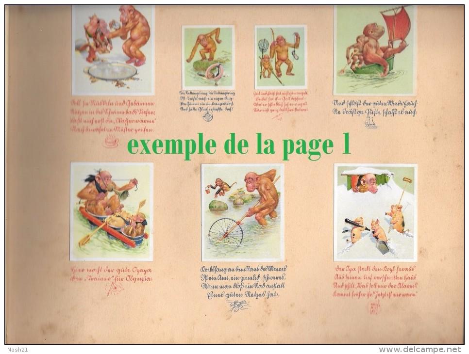 Album De 1938, 23 Pages D' Images Humoristiques D' Animaux - Langue Allemande - Livres Pour Enfants