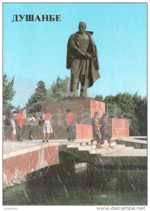 Monument To S. Aini - Dushanbe - 1985 - Tajikistan USSR - Unused - Tadjikistan