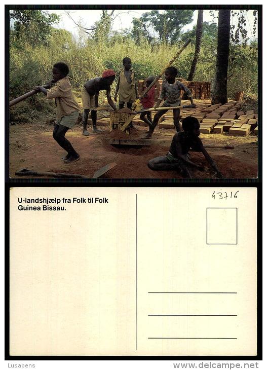 PORTUGAL COR 43716  - GUINÉ - BISSAU - VIVA ESTUDAR E PRODUZIR - Guinea-Bissau