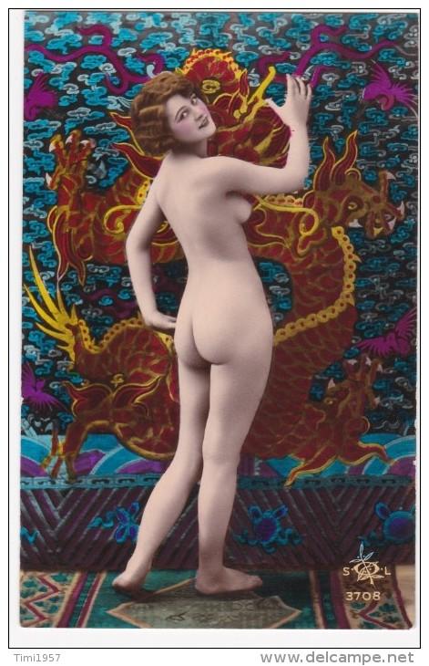 Alte ORIGINAL Erotik  COLORIERTE   AK Ca. 1900-1910 - Desnudos Adultos (< 1960)