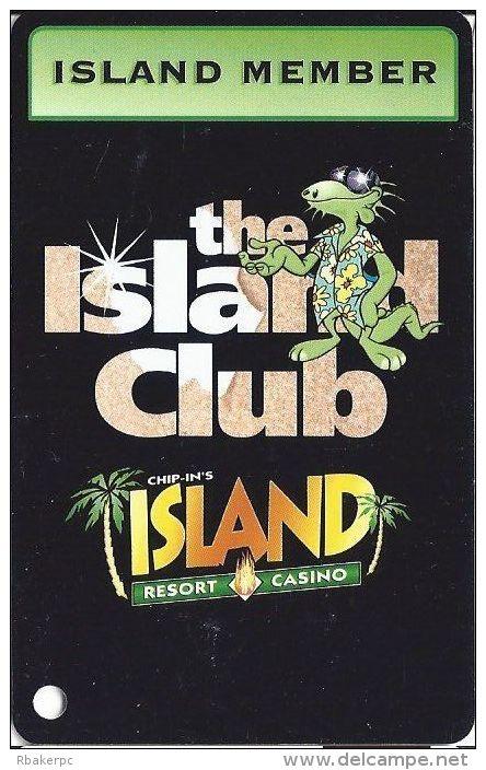Chip-In Island Resort Casino Harris MI - Island Member Slot Card - Casino Cards