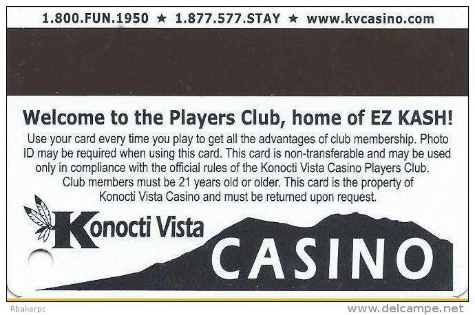 Konocti Vista Casino Lake Port CA - Slot Card - Casino Cards