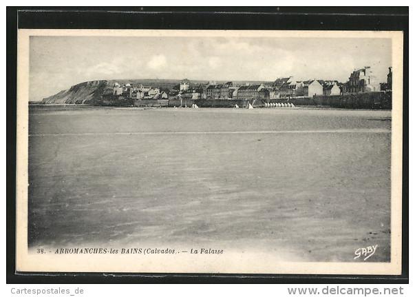 CPA Arromanches-les-Bains, La Falaise, Vue Generale - Falaise