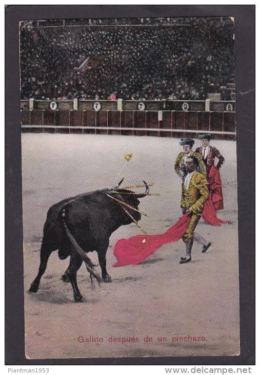 Antique Postcard Of:Bull Fighting,Gallito Despues De Un Pinchazo, Spain.,S42. - Spain
