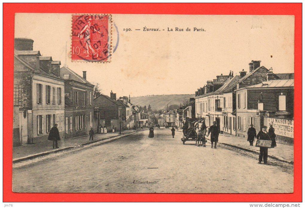 EVREUX - La Rue De Paris. (animation) - Evreux